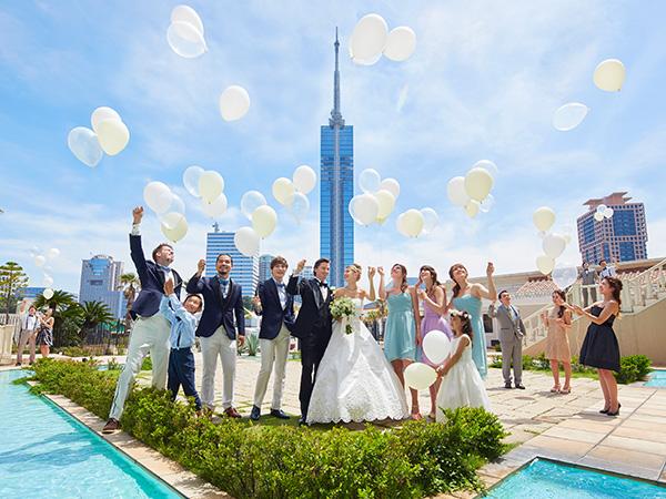 福岡市の結婚式場ウエディングアイランドマリゾンのガーデン